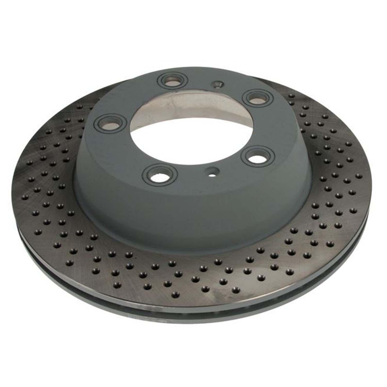 Cross Drilled Rotors >> Rear Cross Drilled Brake Rotor Set Renn Part